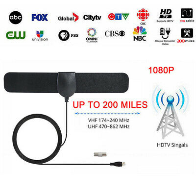 200 Mile Range Antenna TV Digital HD Skywire 4K Antena Digital HDTV Indoor 1080p