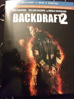 BACKDRAFT 2  (BLU-RAY, DVD, 2019) no Digital.  Case+Artwork+Slipcovers INCLUDED