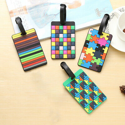 Taggy Luggage Tag Travel Suitcase Bag Id Tags Address Label Card Holder P4E2B