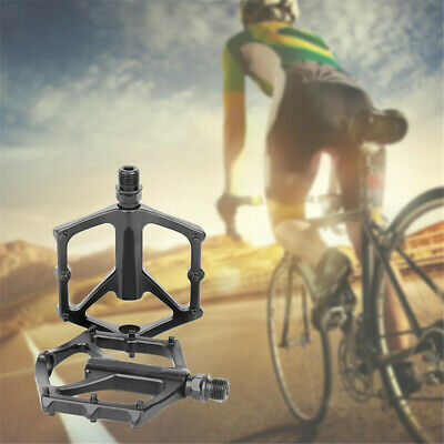 1 Pair Wide Large Smooth Metal Bicycle Pedals Bearing For MTB BMX Mountain Bike