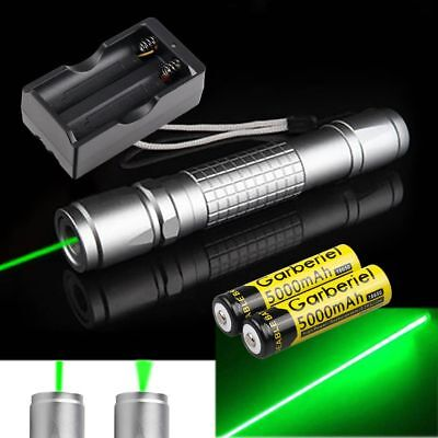 20Miles 1mW 532nm Green Laser Pointer Lazer Pen Visible Beam+Battery+USA Charger