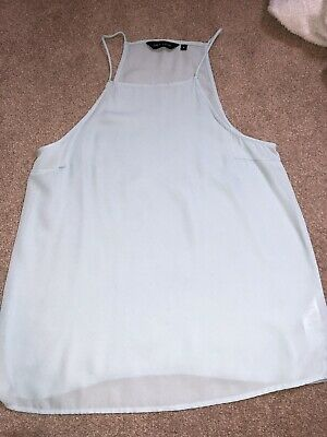 Womens High Neck wide arm holes T Shirt Ladies Bodycon Vest Sleeveless uk 8 & 10