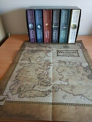 A Game of Thrones 6 book set and map of Westeros George R.R. Martin