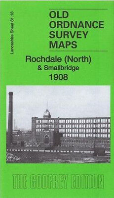 Old Ordnance Survey Map Rochdale North & Smallbridge 1908