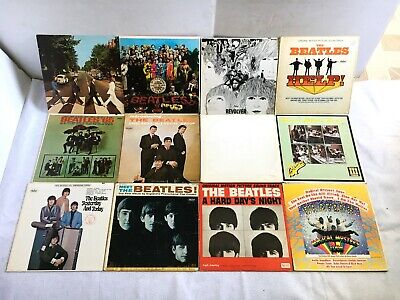 THE BEATLES Classic Rock LP Albums Lot 11 Original Vinyl Records Capitol Apple