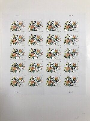 USPS Love Flourishes Forever Wedding Stamps (2 Sheets) 40 Stamps