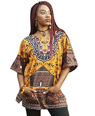 Gye Nyame Traditional African Print Dashiki Top
