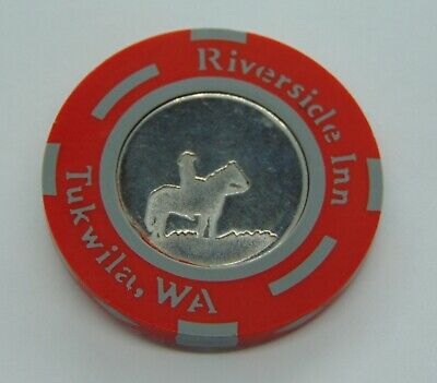 Casino Chip $5 Riverside Inn Tukwila Wa Poker Gambling