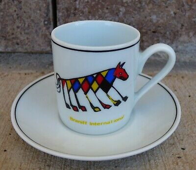 "RARE ALEXANDER CALDER BRANIFF AIRLINES ""BEASTIE"" and ""FRIENDSHIP"" DEMITASSE CUP"