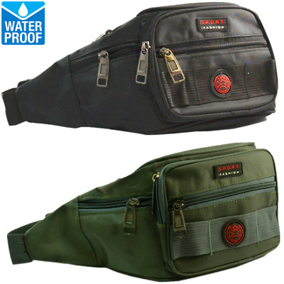Mens Womens WATERPROOF Fanny Pack Travel Pouch Waist Shoulder Hip Belt Bag