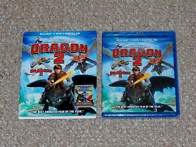 How to Train Your Dragon 2 Blu-ray/DVD Combo 2014 Slip Cover Brand New Canadian