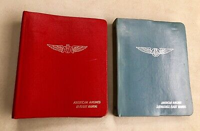 Lot 2 Vintage American Airlines In-Flight Manuals Stewardess 1970s RARE Wow!!