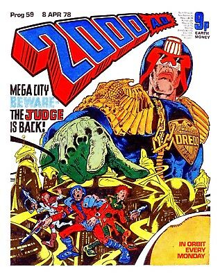 2000AD Prog 51-60 Judge Dredd  Comic issues 1977 / 1978 Excellent Condition