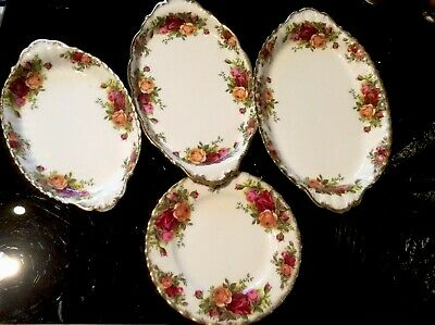 Royal Albert..OLD Country ROSE... 4 Piece Collection. VGC, 1st Quality.