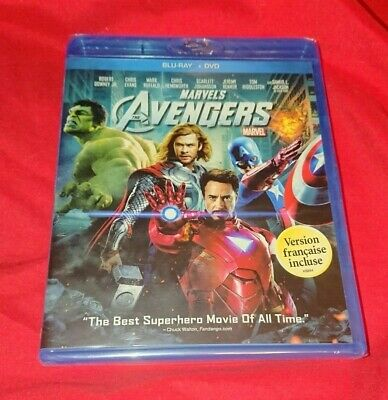 RARE NEW SEALED Marvel's The Avengers Bluray DVD 2 Disc SET COMBO ENGLISH FRENCH
