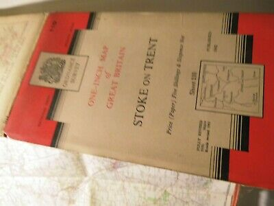 South Cheshire, Staffordshire, Stoke On Trent:ordnance  Series 7 Map 110:1959-62
