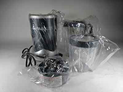 NutriBullet High-Speed Blender/Mixer System, Gray (4 Pieces) SOLD AS IS