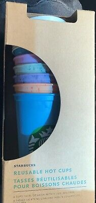 NEW Starbucks Tumbler Summer 2019 16oz Marble Reusable Hot Cups Set Of 6 Cups