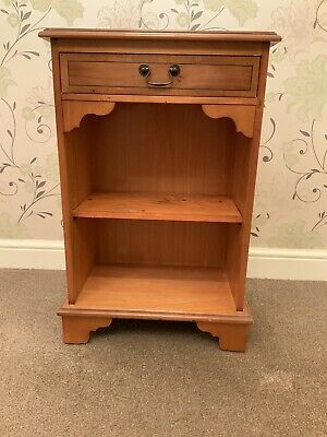 Yew Bookcase with Top Drawer, Reproduction.