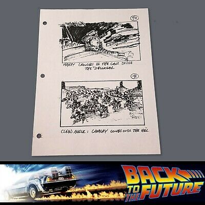 BACK TO THE FUTURE 3 Production Used Storyboard - Marty & Indians Out West