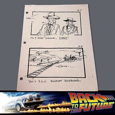 BACK TO THE FUTURE 3 Production Used Storyboard - Marty & Doc 1