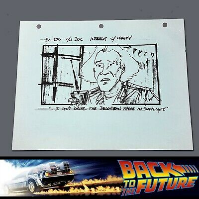 BACK TO THE FUTURE 2 - Production Used Storyboard - Doc & the DeLorean 2