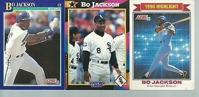 1991 Score Bo Jackson Highlight Four Straight Homers 420 Bgs95