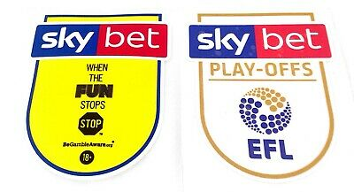 2018-19 EFL CHAMPIONSHIP PLAY-OFFS Official Player Size Football Badge Patch Set