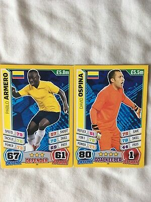 Topps Match Attax  Brazil 2014 World Cup- Colombia