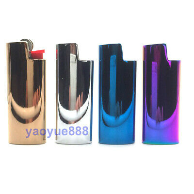 1Pcs Metal Lighter Case Cover Holder Mirror Surface For Bic Mini Size Lighters