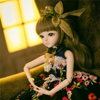 1/3 BJD Doll Lovely Girls Dolls Free Face Makeup Wig Clothes Toy Set xmas gift