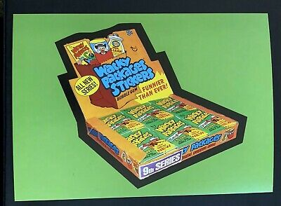 BRAND NEW Lost Wacky Packages BOX STICKERS 9th Series Uncut Puzzle Sheet