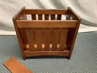 Stickley Mission Arts and Crafts Solid Oak Magazine Rack Stand