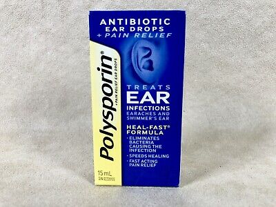 Polysporin Antibiotic Ear Drops. Treats ear infections Fast! Ships from USA