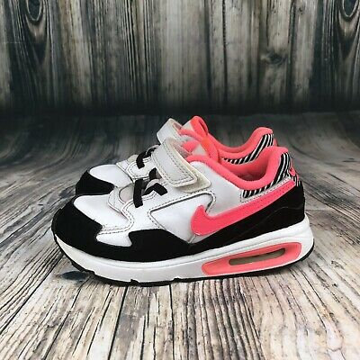 cc6658aaf4 Nike Air Max ST Toddler Girl's Athletic Sneaker Shoes White Black Pink Size  5c