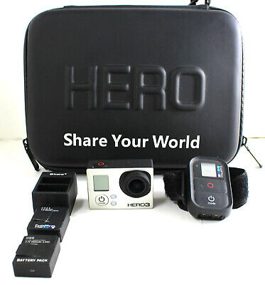 GoPro Hero 3 Black Edition With Remote, Storage Case and 3 Batteries