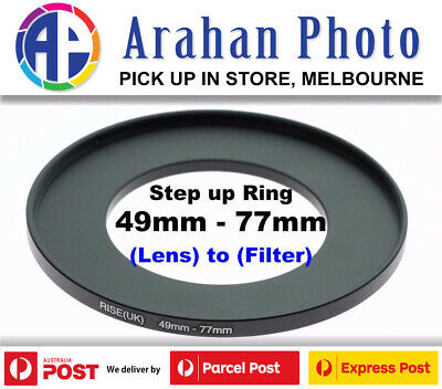 Step Up Ring 49-77 Filter Lens Adapter 49mm Filter to 77mm Lens