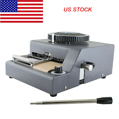Tool Parts 72-character Letters Manual Embosser Credit Id Pvc Card Vip Embossing Machine Usa Free Shipping Attractive Fashion