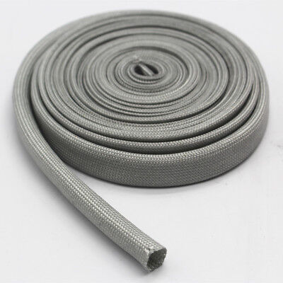 Vulcan Heat Protector Woven Sleeve Gray Spark Plug Wire High temp 1200F 25ft