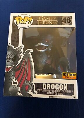 Funko Pop! Game of Thrones 6 Inch Drogon #46 Hot Topic Exclusive w/ Protector