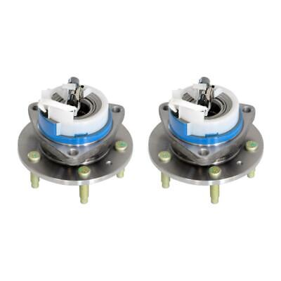 TRQ Front Wheel Hub /& Bearing Pair RWD 5 Lug 3 Bolt Flange w//ABS for CTS STS
