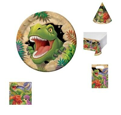 Dinosaur Themed Partyware Plates Napkins Children's Party