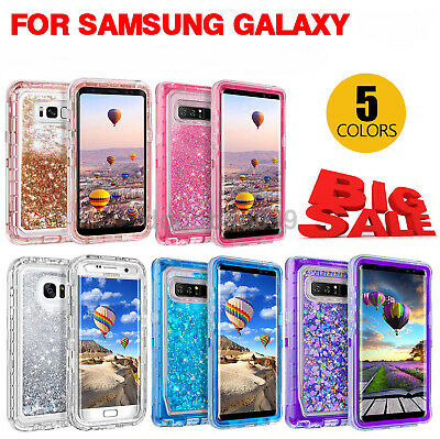 outlet store 036d8 01f76 SAMSUNG GALAXY S9 Plus/Note 8/9 Liquid Glitter Defender Case Clip ...