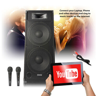 ACTIVE LOUD PA speaker system 400 W microphone Active