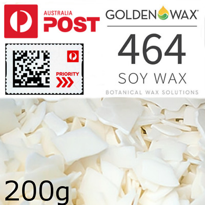 200g Popular NATURAL SOY WAX 464 Melt & Tea light / container / clam Candle make