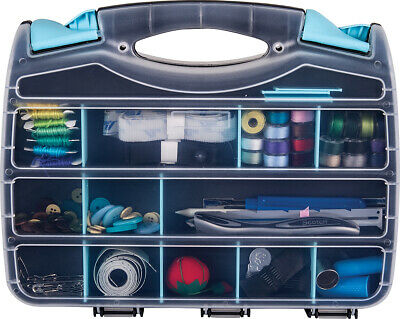 """ArtBin Quick View Double W/Removable Dividers 12.5""""-Aqua"""