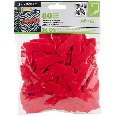 """Feltables Letters & Numbers 2"""" 80/Pkg-Red"""