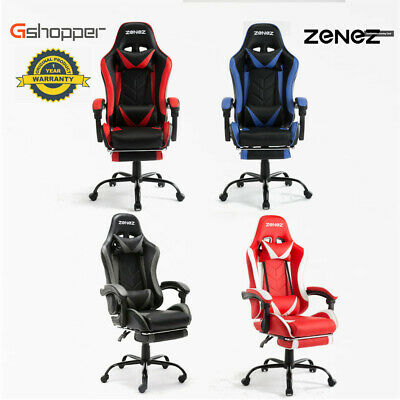 NEW Gaming Office Chair Racing Executive Footrest Computer Seat PU Leather