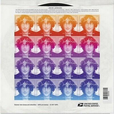 Jon Lennon 1 Sheet of 16 Forever USPS First Class Postage Stamps Music Icon Rock