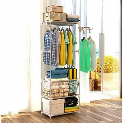 Garment Rack Portable Grey Clothes Hanging Rail Stand Display Rack Free Standing